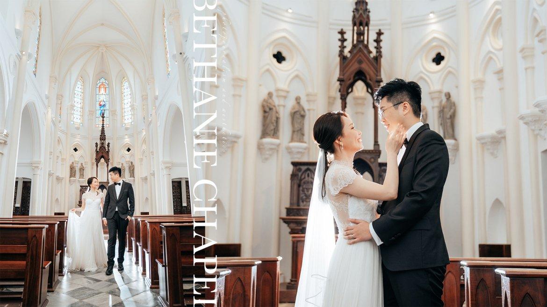 【Les noces】 非教徒也可舉辦教堂婚禮! 伯大尼小教堂婚禮攝影